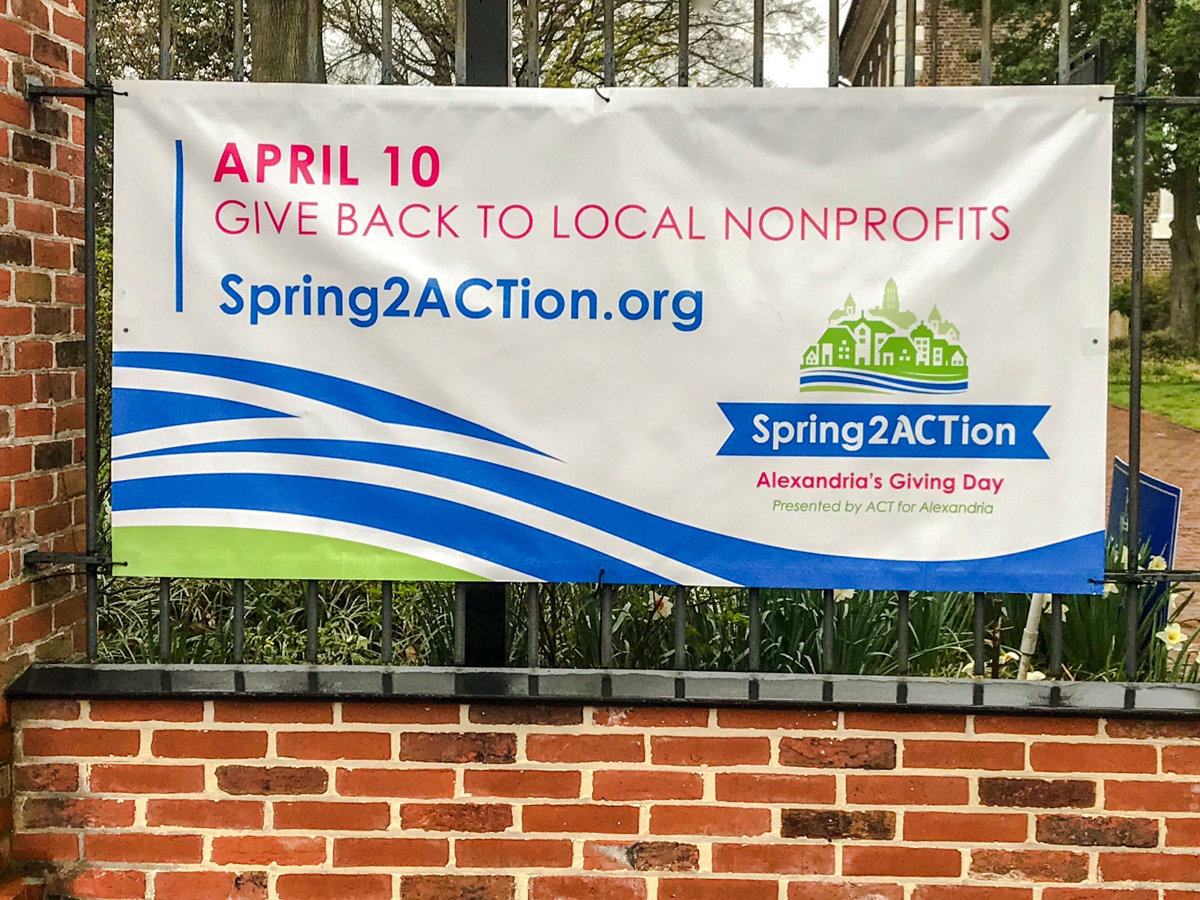Vinyl Banner with Grommets for Spring2action Annual Fundraiser