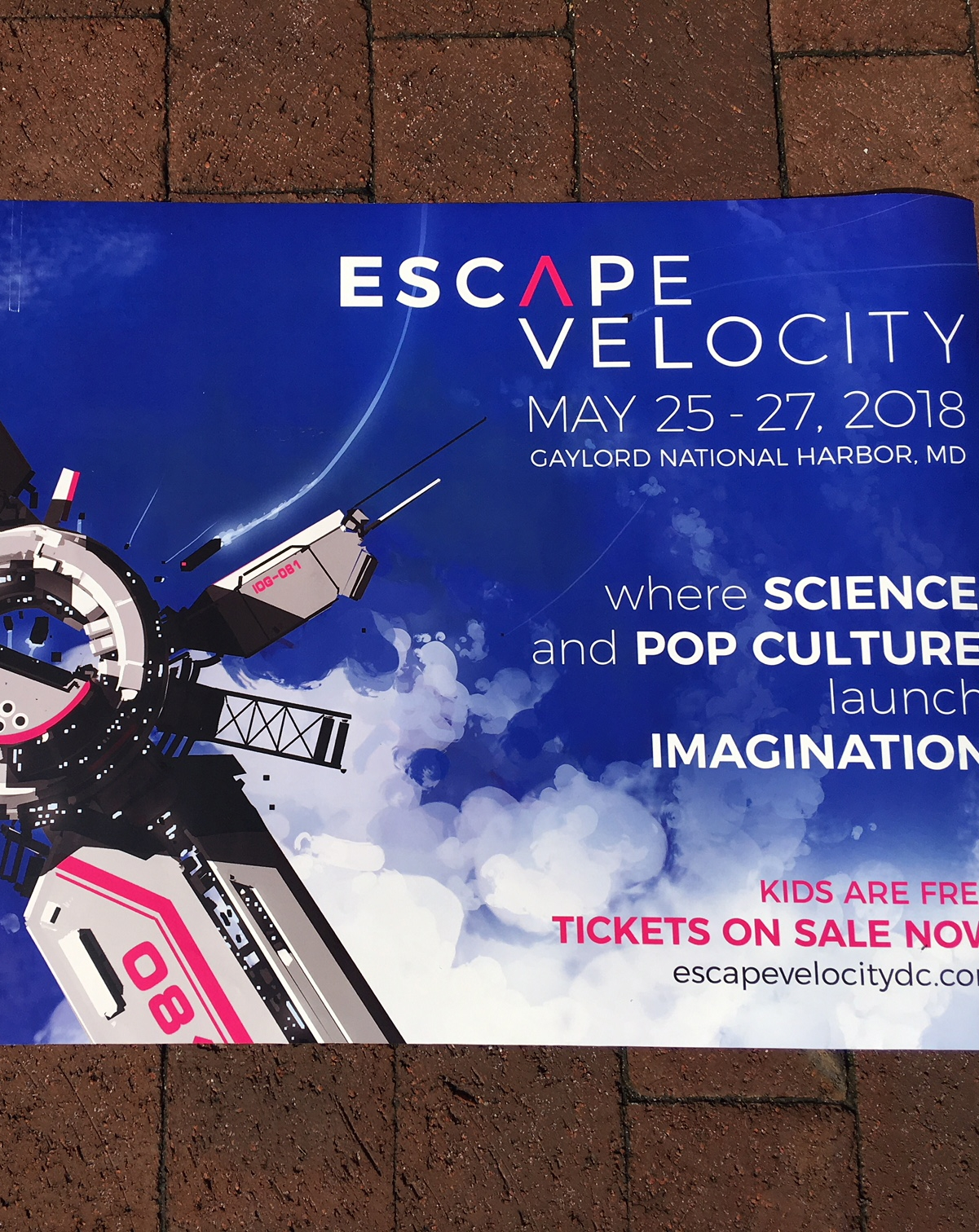 Escape Velocity event outdoor banner