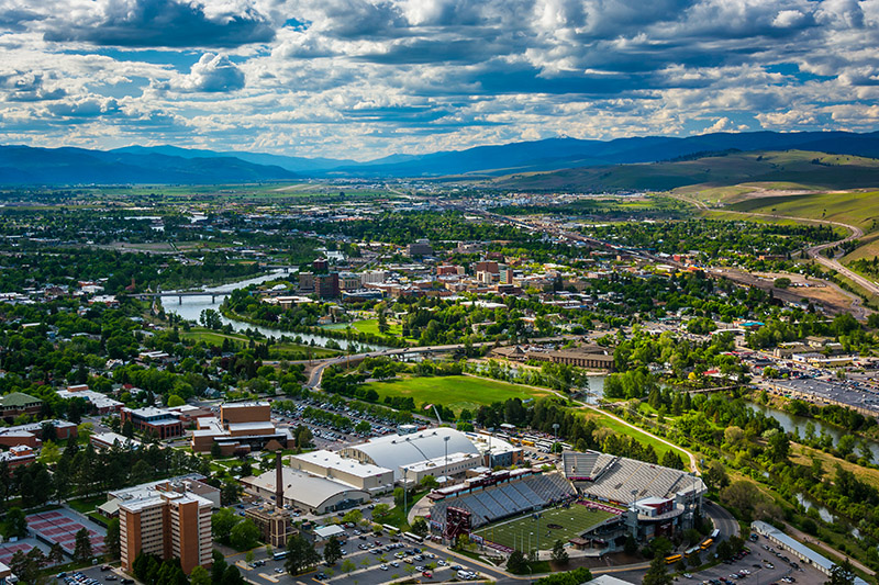 Image of Missoula Valley where AlphaGraphics Missoula is located