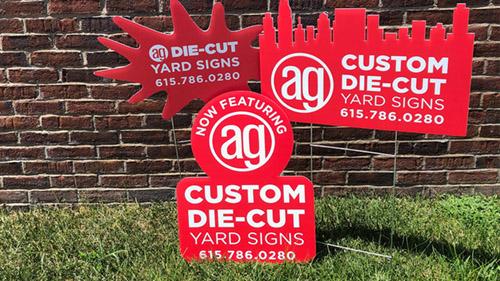 Custom cut yard signs