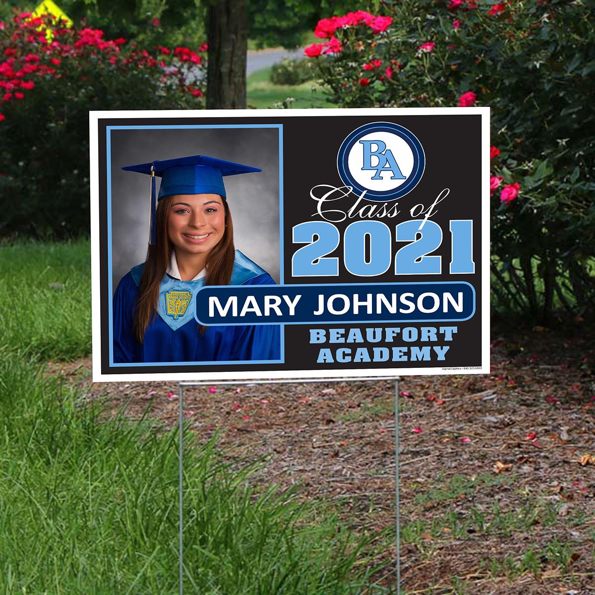 graduation yard signs