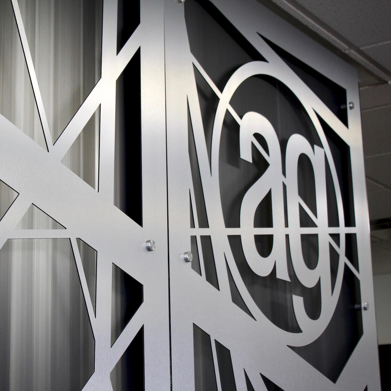 Metal AlphaGraphics Logo