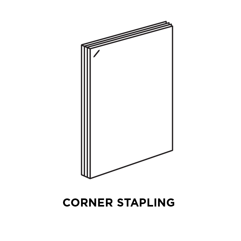 Corner stapling