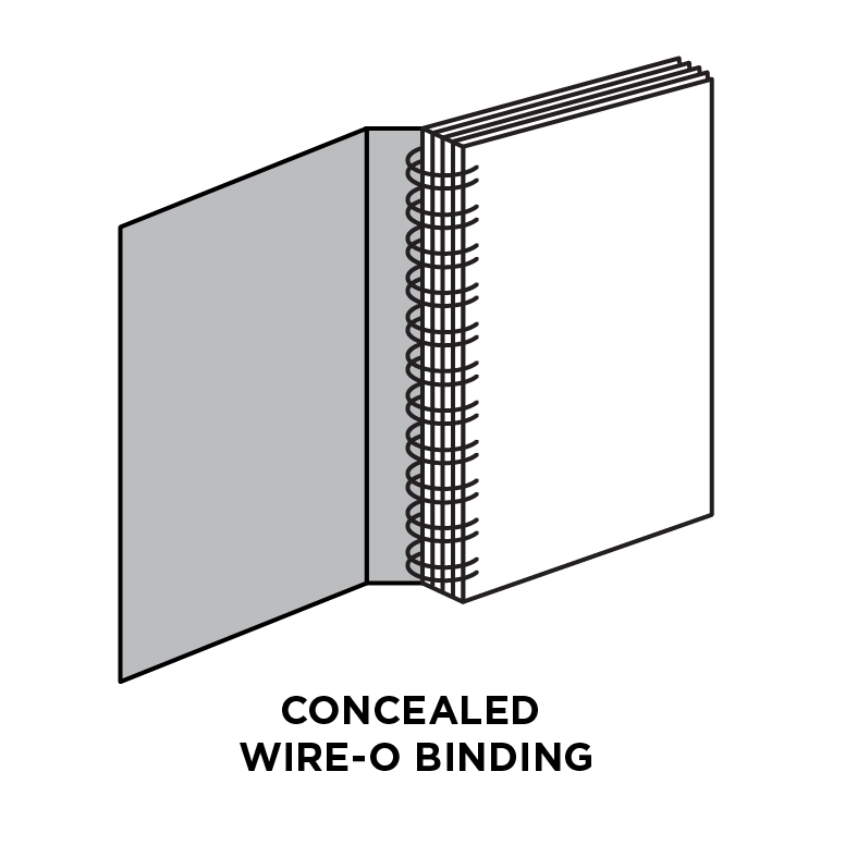 Concealed wire-O binding