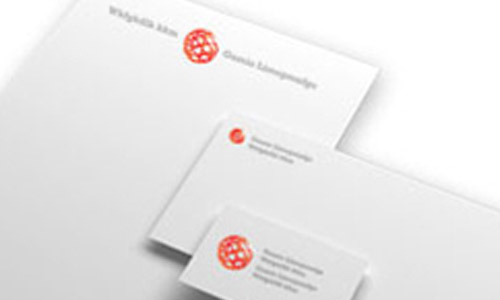 Set of customized stationery and letterhead